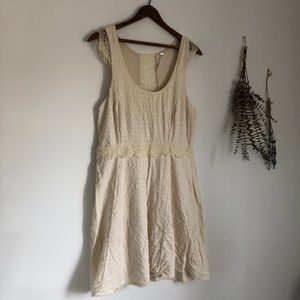 Free People Cotton and Lace Summer Dress